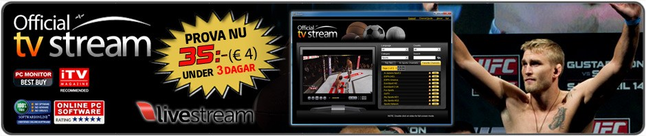 Shogun - Gustafsson Live Streaming UFC Fox 5